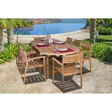 Amazonia Teak 9 Piece Dining Set