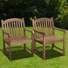 Amazionia Teak Darwin Stacking Dining Arm Chair (Set of 2) (Set of 2)