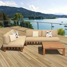 Amazonia Mali 3 Piece Lounge Seating Group with Cushions