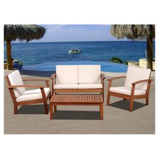 Amazonia Chicago 4 Piece Seating Group with Cushions