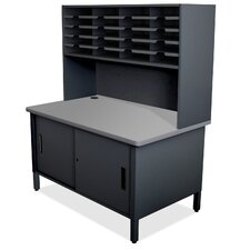 Mailroom 20 Slot Organizer with Cabinet