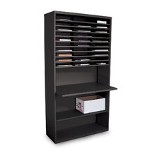 Mail Sorter Workstation with Adjustable Work Surface