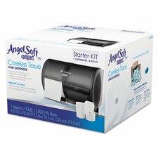 Tissue Dispenser and Angel Soft Tissue Start Kit