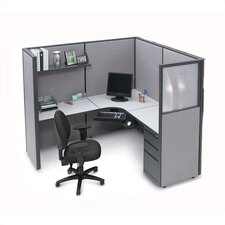 L-Shape Corner Cubicle