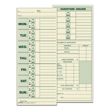 Manila Weekly Time Card (Set of 500)