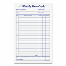 Employee Time Card (Set of 100)