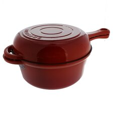 Chasseur 3-quart French Enameled Cast Iron Combi-Cook Sauce Pan