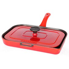 Chasseur 10-inch French Enameled Cast Iron Panini Press