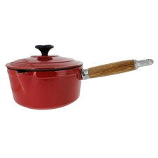 Chasseur 2.5-quart French Enameled Cast Iron Saucepan With Wooden Handle