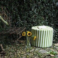 Jaxx Striped Outdoor Pouf Ottoman