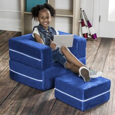 Zipline Modular Kids Chair with Ottoman