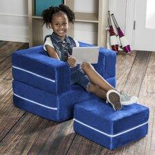 Zipline Modular Kids Club Chair and Ottoman