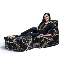 Realtree Bean Bag Lounger and Ottoman
