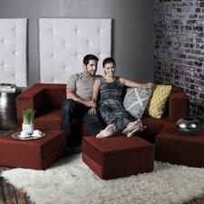 Zipline Convertible Sleeper Sofa with Ottomans
