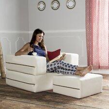 Zipline Convertible Sleeper Arm Chair and Ottoman