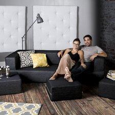 Zipline Sleeper Sofa with Ottoman