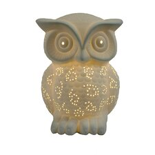 "Simple Designs Owl 9.84"" H Table Lamp with Novelty Shade"