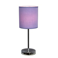 "Simple Designs Mini Basic 11.81"" H Table Lamp with Drum Shade"