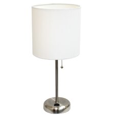 "LimeLights 19.5"" H Table Lamp with Drum Shade"