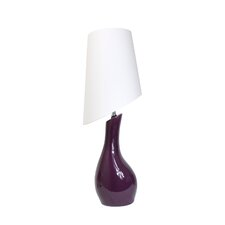 """Elegant Designs Ceramic Curved 28.74"""" H Table Lamp with Empire Shade"""
