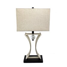 "Elegant Designs Conference Room Hourglass 31.5"" H Table Lamp with Rectangular Shade"