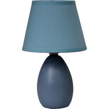 "Simple Designs 9.45"" H Table Lamp with Empire Shade (Set of 2)"
