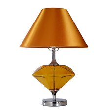 """Diamond-Shaped 21.65"""" H Table Lamp with Empire Shade"""