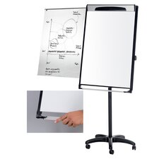 Platinum Dry Erase Mobile Presentation Easel Magnetic Free-Standing Whiteboard, 7' H x 3' W