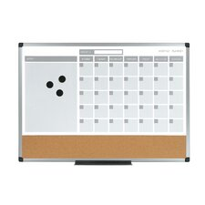 Wall Mounted Magnetic Bulletin Board, 2' H x 2' W