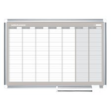 Weekly Wall Mounted Magnetic Whiteboard, 2' H x 3' W
