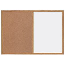 Silver Easy Clean and Cork Wall Mounted Combination Boards