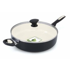 "Rio 12.13"" Non-Stick Skillet with Lid (Set of 2)"