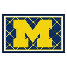NCAA University of Michigan 5x8 Rug