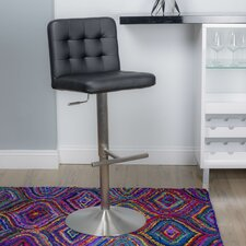 Dexter Adjustable Height Swivel Bar Stool with Cushion