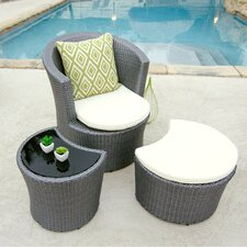 Boca Outdoor 3 Piece Lounge Seating Group
