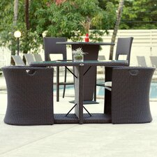 Boynton 3 Piece Outdoor Dining Set with Cushions