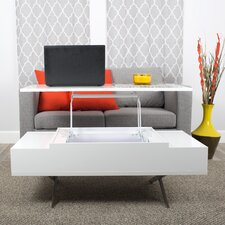 Stelar White Lift-Top Rectangular Coffee Table