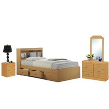 Platform 4 Piece Bedroom Set