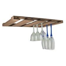 Overhead Wall Mounted Wine Glass Rack