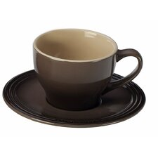Stoneware 7 Oz. Cappuccino Cup and Saucer (Set of 2)