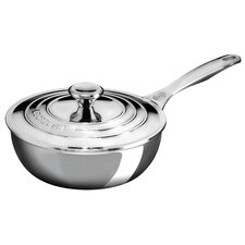 2 Qt. Stainless Steel Saucier Pan with Lid