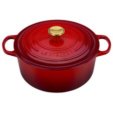 7.25-qt. Round Dutch Oven with Gold Knob