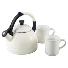 Enamel On Steel 3 Piece 1.7 Qt. Peruh Tea Kettle & Mug Set