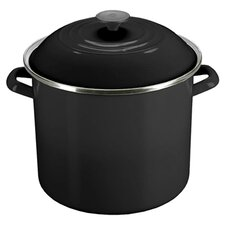 Enamel On Steel 10 Qt. Stock Pot with Lid