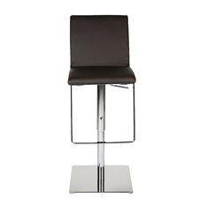 Gia Adjustable Height Swivel Bar Stool with Cushion