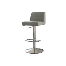 Karen Adjustable Height Swivel Bar Stool with Cushion