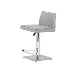 Medusa Adjustable Height Swivel Bar Stool with Cushion
