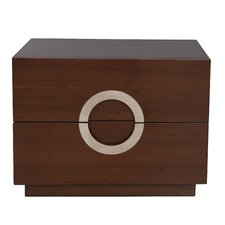 Eddy Large 2 Drawer Nightstand