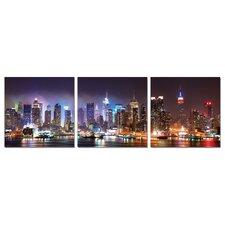 City Lights 3 Piece Photographic Print Set
