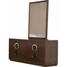 Eddy 6 Drawer Dresser with Mirror